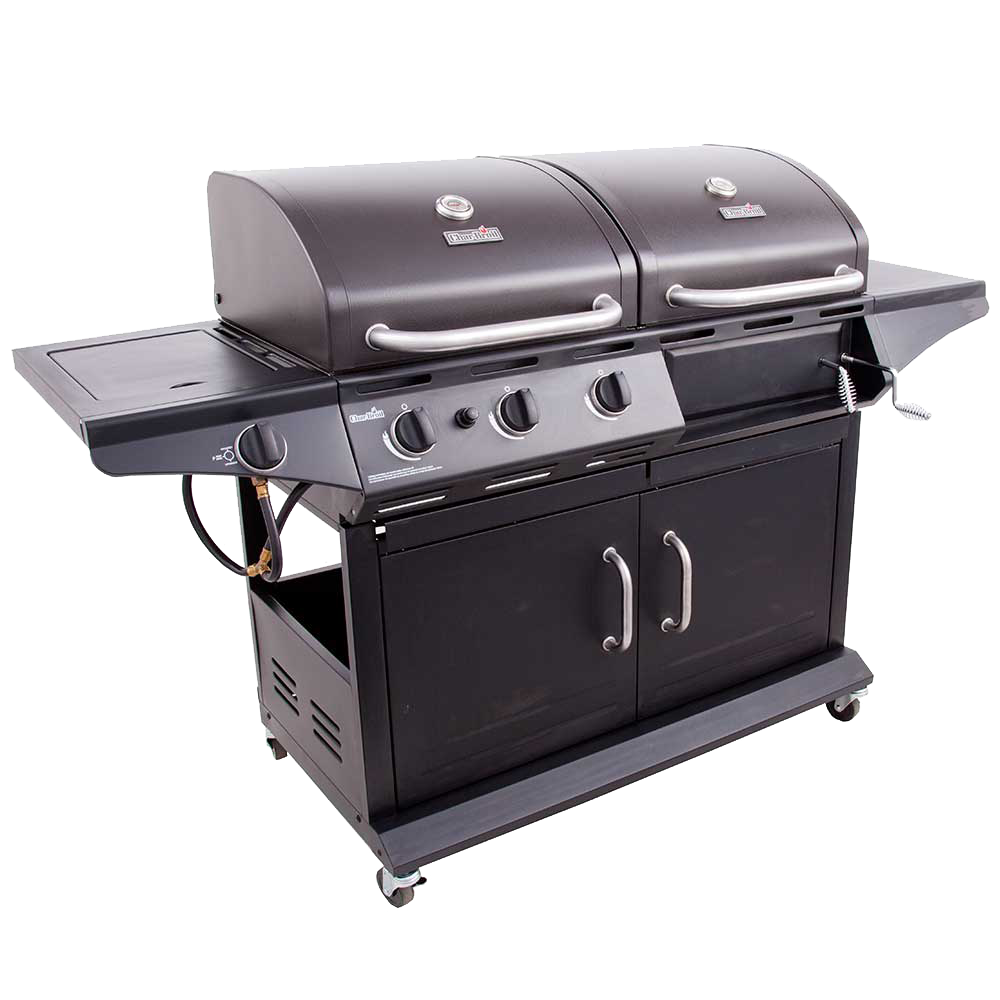 Deluxe Gas Amp Charcoal Combo Grill