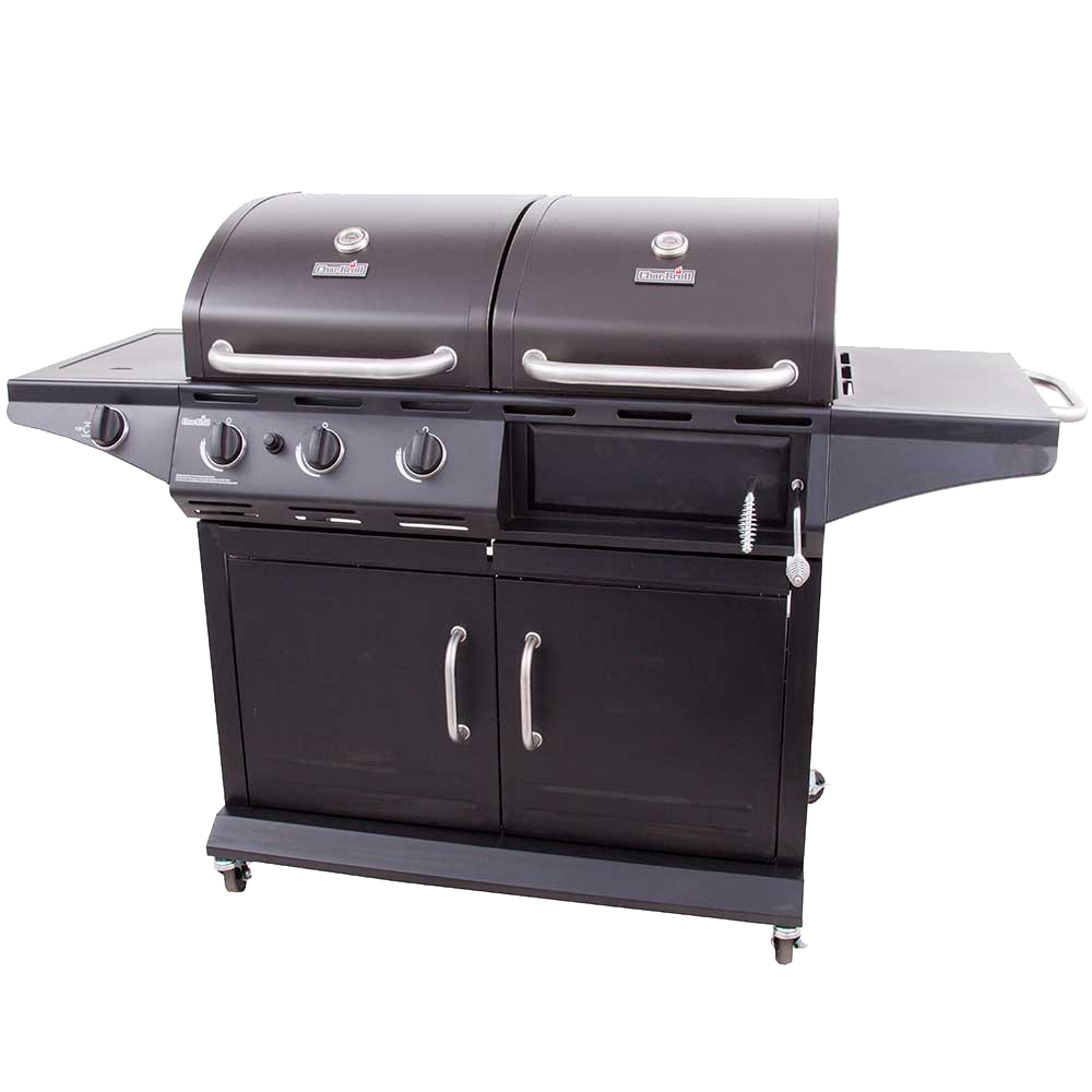 Gas Grills Product ~ Deluxe gas charcoal combo grill